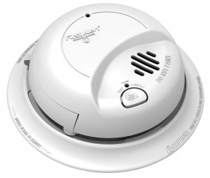110V Ionization Smoke Alarm with 9V Battery Backup