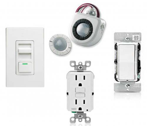 Receptacles, Switches, Motion - Occupancy Sensors, Dimmers, Wall Plates
