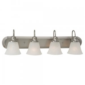 Fluorescent Four Light Wall/ Bath Brushed Nickel
