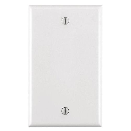 1 Gang Blank Plastic Wallplate, Standard size-MUST SPECIFY WHICH COLOR