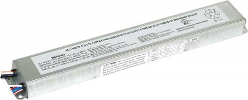 1400 Lumen Low Profile Fluorescent Emergency Ballast- AC Output- Time Delay