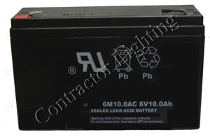 6v 10 AH Sealed Rechargeable Lead Acid Battery