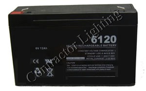 6v 12 AH Sealed Rechargeable Lead Acid Battery