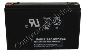6v 7 AH Sealed Rechargeable Lead Acid Battery