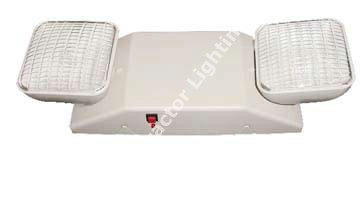 Adjustable Head Emergency Light - White Battery Backup