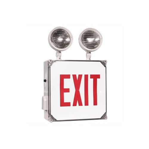 Wet Location Exit Sign / Emergency Light Combo