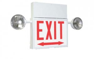 Chicago Approved Exit Sign / Emergency Combo