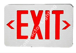 Remote Capable Led Thermoplastic Exit Sign, Red/White, Battery Backup