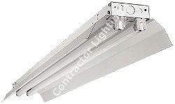 "48"" Industrial Fluorescent Single Channel 1-lamp T8 32 watt White Reflector Standard Mount Multivolt"