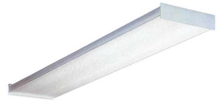 2ft 2 Lamp 17 Watt T8 Fluorescent Wrap Around Fixture 120/277