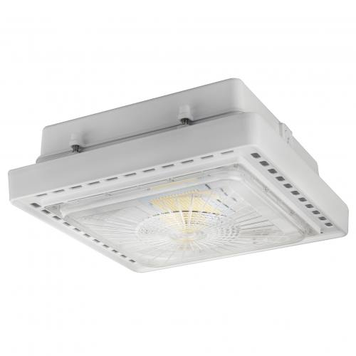 Premium LED Gas Station Canopy Fixture 4K-5K Multi Volt IP65 DLC Listed 5 Year Warranty