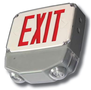 Wet Location All LED Exit & Emergency Combo, UL Listed, Title 20, 5 Year Warranty