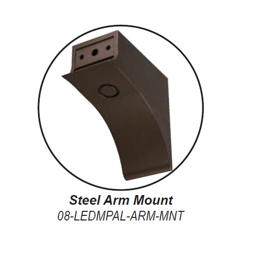 Steel Arm Mount for LEDMPAL 80W - 300W