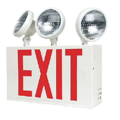 New York City & Chicago Approved Exit Sign/Emergency Light Combos
