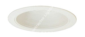 6'' Vertical Fluorescent White  Reflector Recessed Trim - 2PL
