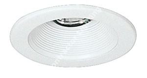4'' Low Voltage Recessed White Stepped Baffle Trim