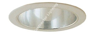 6'' Fluorescent Clear Reflector Recessed Trim