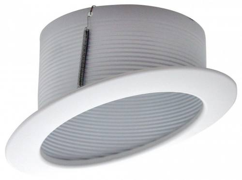 6'' White Stepped Baffle Sloped Recessed Trim