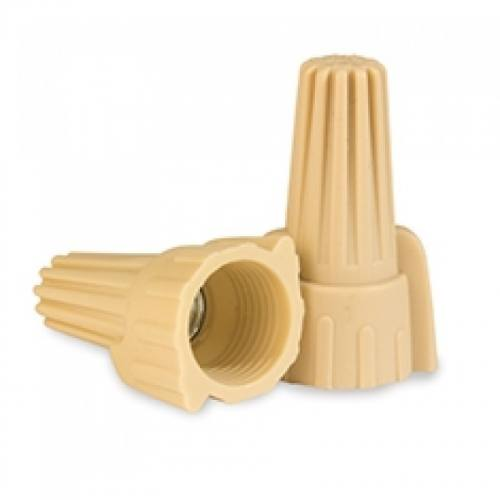 P12 Tan Winged Wire Connector 500pc